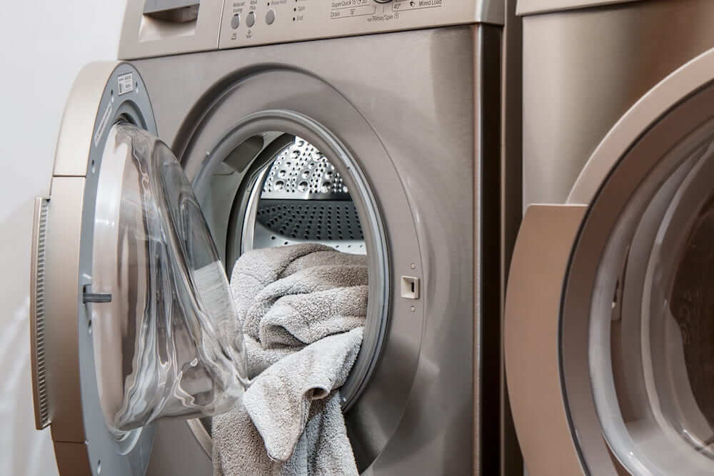 Image of dryer with absorbent towels